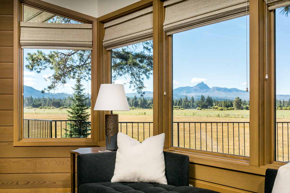 Sunroom Addition with beautiful view of plains and mountain